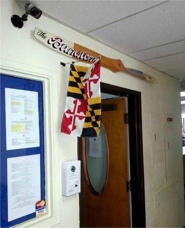 Barnstorm Restaurant: Interior Entrance With Flag