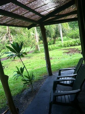 Kalani: Patio in front of my private room