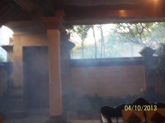 Puri Dewa Bharata Hotel & Villas : outside/kitchen area