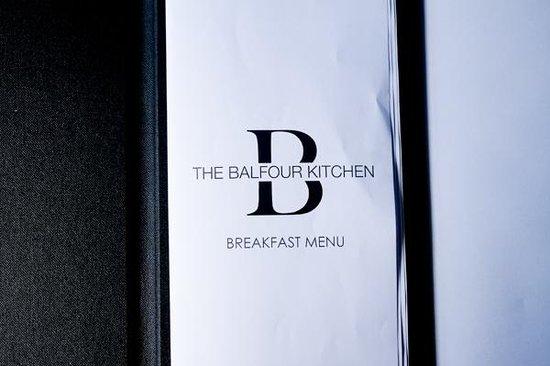 Spicers Balfour Hotel: menu