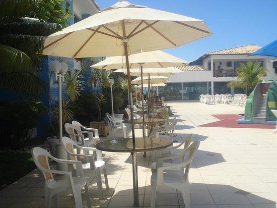 Brisa da Praia Hotel: Zona de poiletas