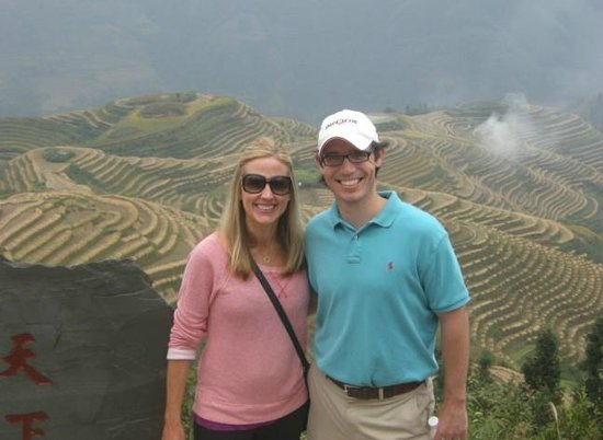 Yangshuo Private Tour-Day Tour: Jennifer and John at Ping'an village.
