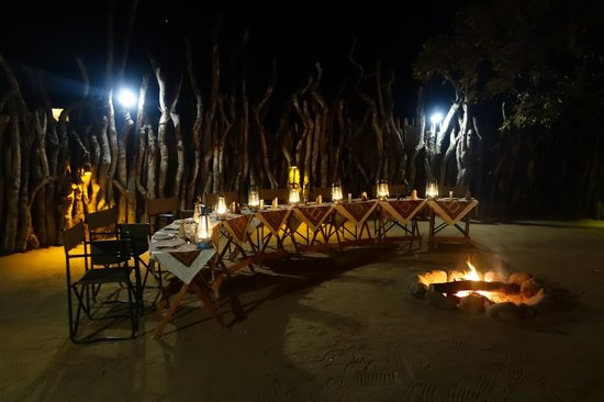 Nkorho Bush Lodge: Dinner