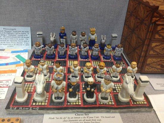 Texas Prison Museum: schaakstuk uit zeep gemaakt door een gevangenen
