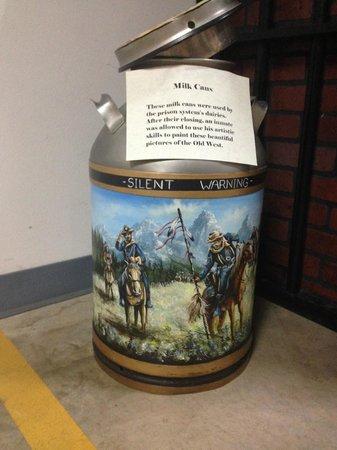 Texas Prison Museum: melkbus beschilderd
