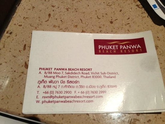 Crowne Plaza Phuket Panwa Beach : Hotel Details