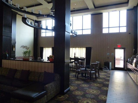 Holiday Inn Express Hotel & Suites Clearfield: From lobby looking into the room where we ate breakfast