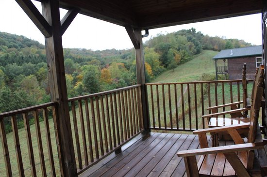 Kickapoo Valley Ranch Guest Cabins: The view off the back porch. So nice!