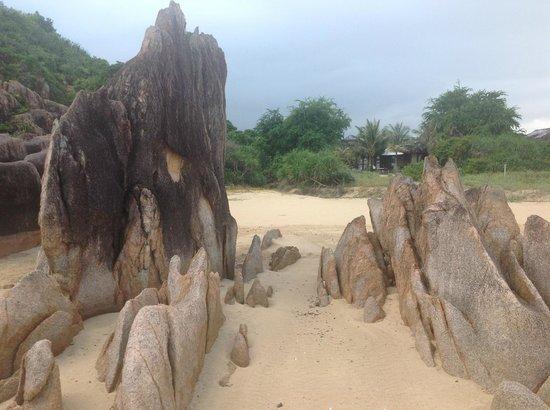 Bai Tram Hideaway Resort : Beach view of villa