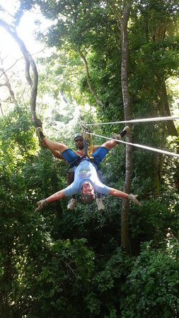 At Your Service - Private Tours: Having fun on the zipline