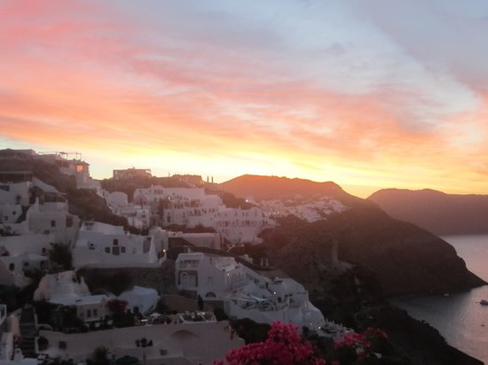 Chelidonia Villas: Sunrise (not sunset) from the terrace
