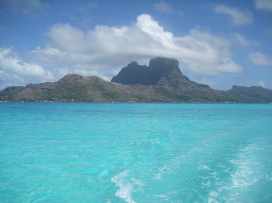Bora Vaite Lodge: vista dell'isola durante escursione con alain