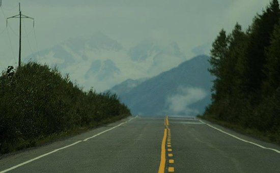 Stewart-Cassiar Highway: First glance of Mt Pattulo and the soaring gnar of Stewart