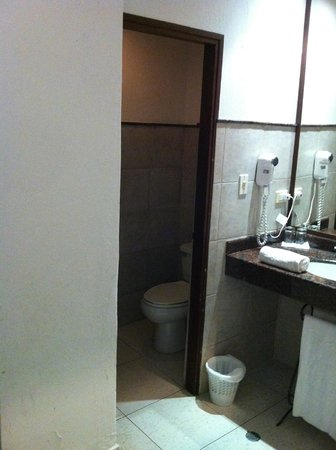 Hotel Monterrey: Secador de Cabelo e Box do Sanitário