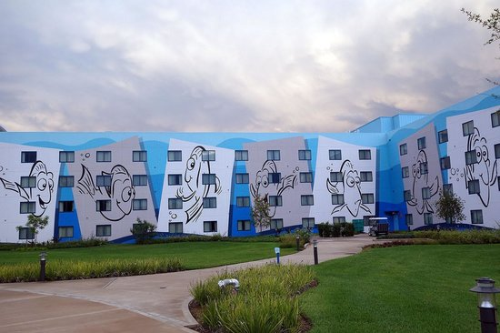 Disney's Art of Animation Resort: Outside of accommodation building.