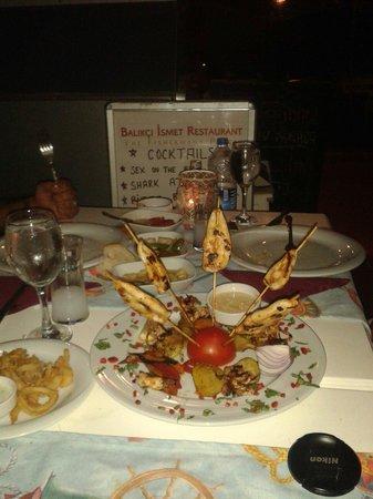 Balikcinin Yeri Restaurant: Grilled Kalamar