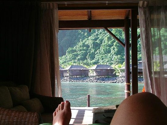 Saleapaga, Samoa: View from bed!