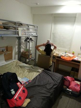 Super Hotel Asakusa: Wide bed & loft (aka bunk bed concept)