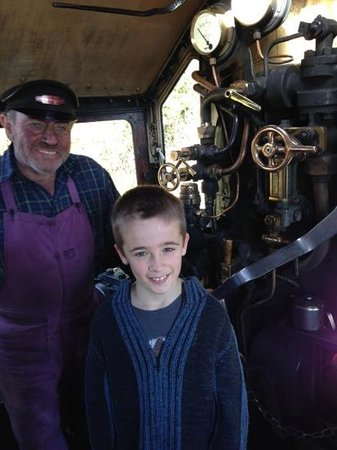 Strathspey Steam Railway : Learning all about the train