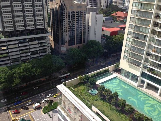 Singapore Marriott Tang Plaza Hotel: View from my Premiere Deluxe Room