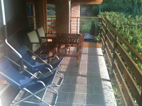 Bed and Breakfast La Casa nel Bosco: La terrazza privata