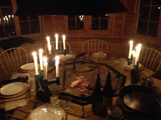 Family Ecolodge : Diner aux Chandelles