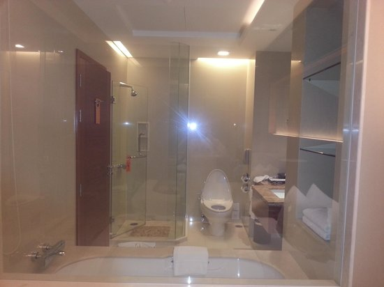 The Grand Fourwings Convention Hotel: view of bathroom  from bedroom ;)