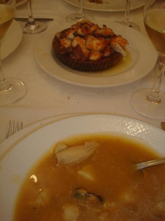 San Clemente: Pulp portion and fish soup
