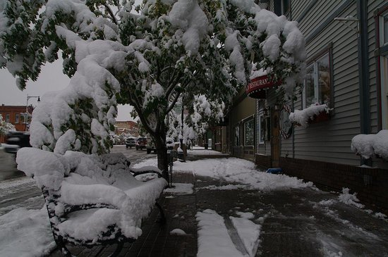 Hotel Bristol: first snow in Steamboat in early October!