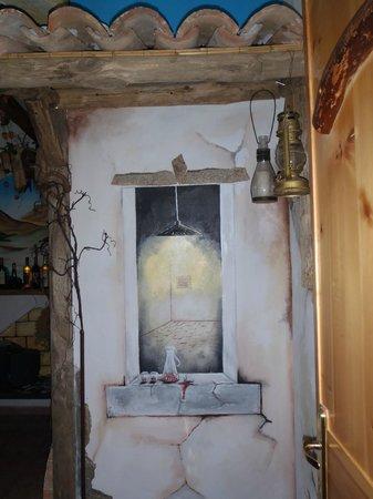 B&B Sa Bertula: murales che si trova in cucina colazione