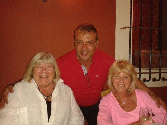 La Rosa di Bari: Juan with my wife and a friend