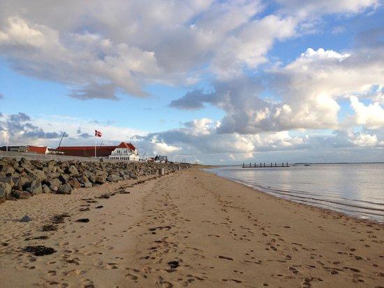 Hjerting Badehotel: Hotellet set fra stranden
