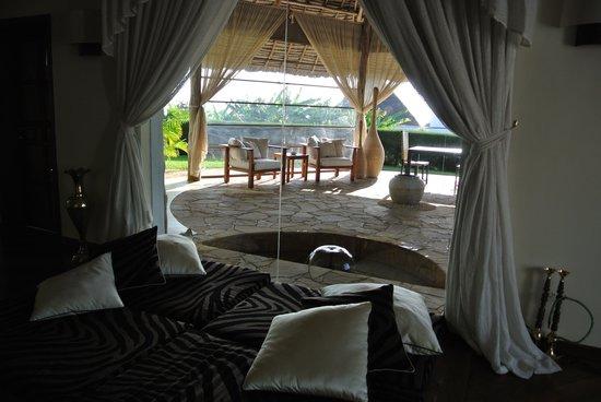 Diamonds Star Of The East Morrocan Floor Seating In Bedroom Overlooking Patio