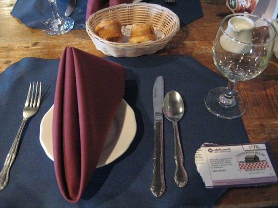 The Morgan House: Muffins and place setting