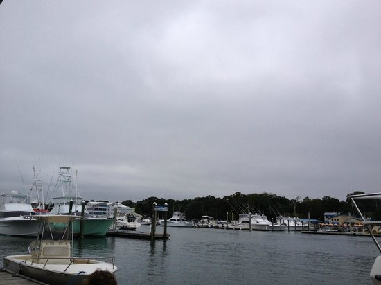 Bluewater Waterfront Grill: view from our table