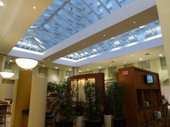 Embassy Suites by Hilton Boston - at Logan Airport : Bar and eating area