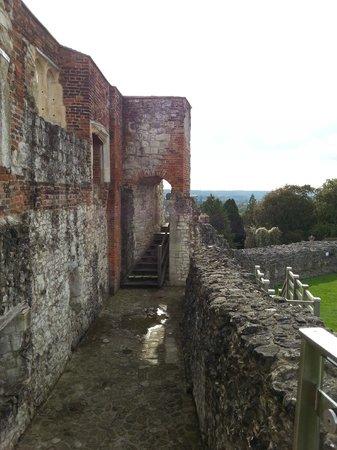 Farnham Castle: wall