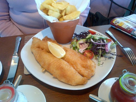 Crofter's Bistro Open Again 7th March: fish 'n' chips