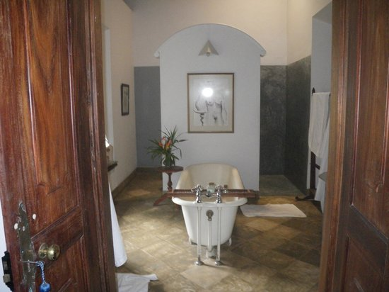 The Dutch House: The bathroom was pleasant with freestanding bath and strong shower.
