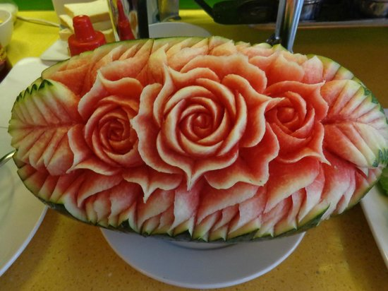Artisan Boutique Hotel : Carved Watermelon at Breakfast