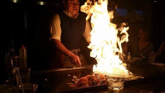 Jenpachi Japanese Steak House: Part of the show!