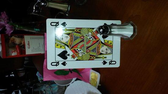 Glaetan Cafe Bistro Book Shop: my table card!!!
