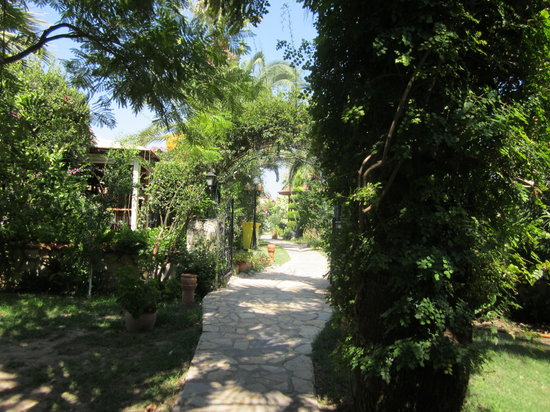 Asur Hotel & Aparts & Villas: Through the grounds to the river