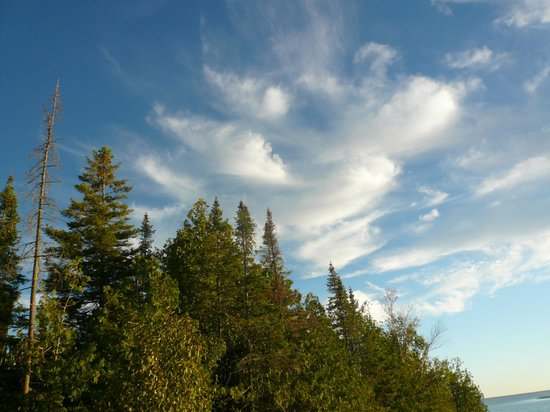 Bear Cove Bed and Breakfast: a late afternoon sky