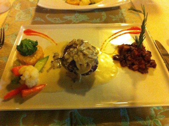 Oasis Hotel: Steak in a mushroom sauce