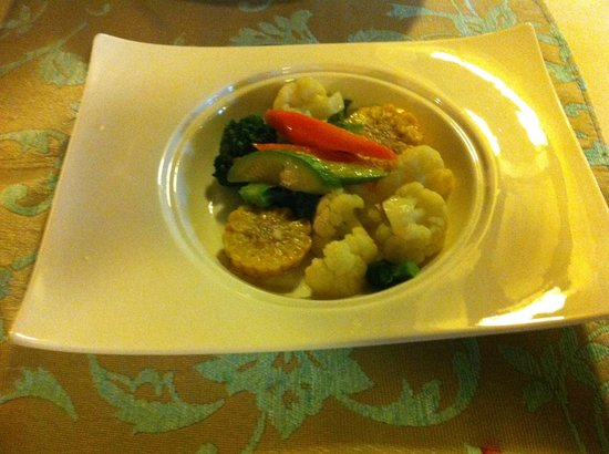 Oasis Hotel: Selection of seasonal vegetables
