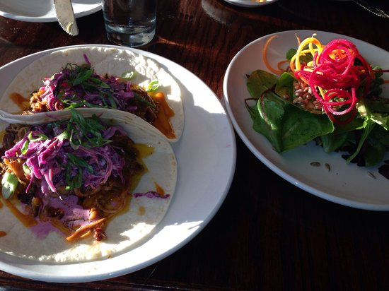 Graze: Pulled pork tacos (amazing)