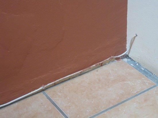 Lidiko Lodge: poor maintenance - sloppy paint