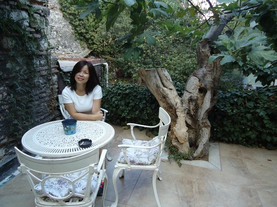 Tashkonak Hotel: I Stay this Beautiful Garden , and the quite lobby enjoy the reading