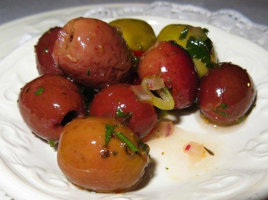 @Angela's: Marinated olives